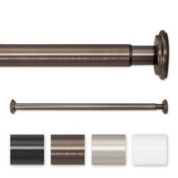 ... Double Pole 144 to 240-inch Adjustable Double Curtain or Patio Rod Set
