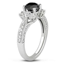 Miadora 14k Gold 1 5/8ct TDW Black and White Diamond Ring (G-H, I2)