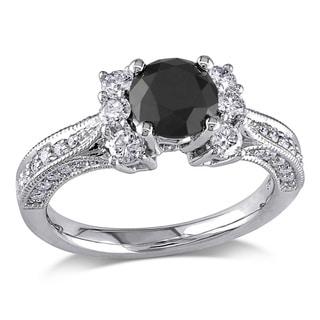 Miadora 14k Gold 1 5/8ct TDW Black and White Diamond Ring (G-H, I2)