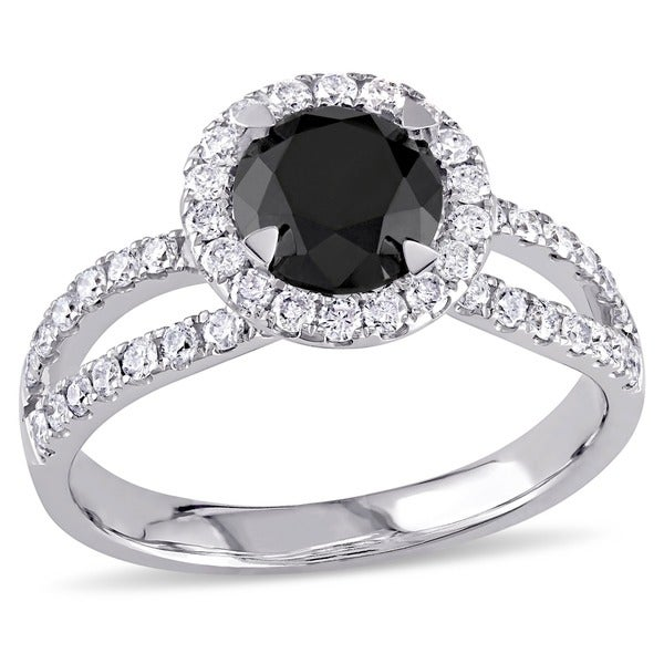 Miadora 14k Gold 1 1/2ct TDW Black and White Diamond Ring (G-H, I2)