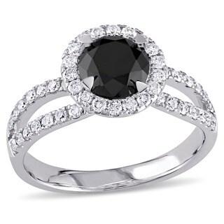 Miadora 14k Gold 1 1/2ct TDW Black and White Diamond Ring (G-H, I2)