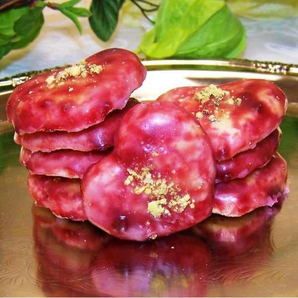 Oma Gisi's Raspberry Glazed Butter Cookies (Box of 24)