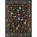 Indoor Black Floral Area Rug (7'10 x 10')