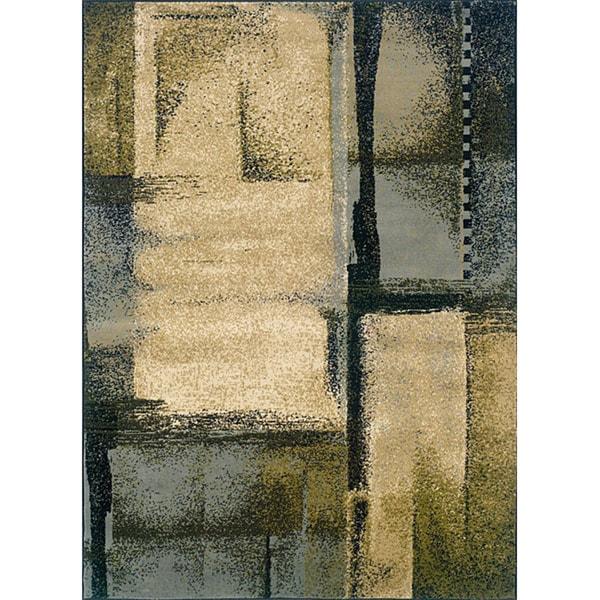 Indoor Blue Abstract Area Rug (7'10 x 10')
