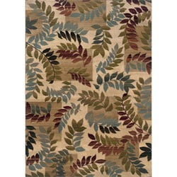 Indoor Ivory Floral Area Rug (7'10 x 10')