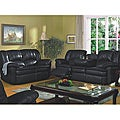 Vedora 3-piece Leather Match Reclining Sofa Set