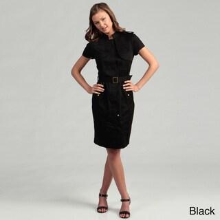Calvin Klein Women's Cotton Blend Short Sleeve Dress