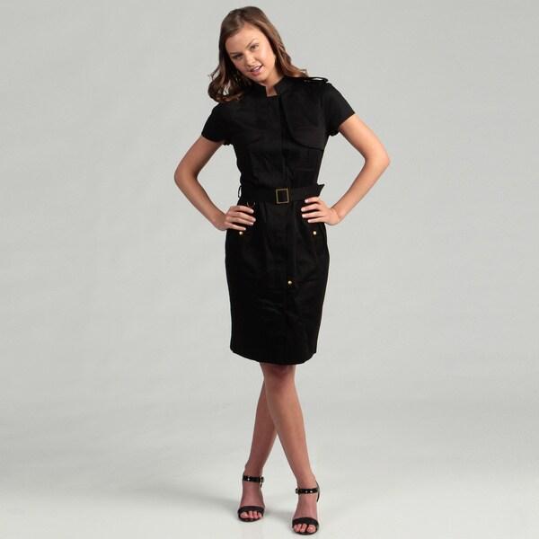 Calvin Klein Women's Cotton Blend Short Sleeve Dress 7865521