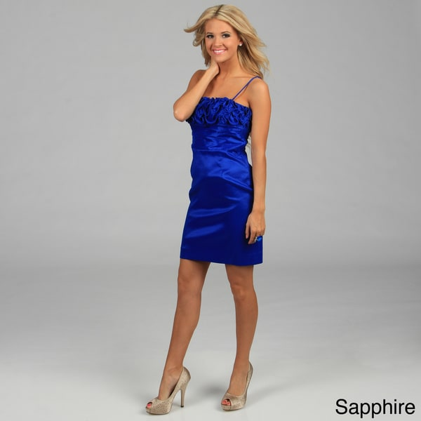 Calvin Klein Women's Ruffled Strapless Dress