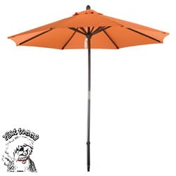 PHAT TOMMY Deluxe Sunline 9-foot Tuscon Orange Market Umbrella