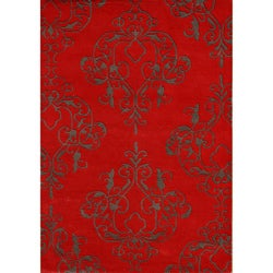 Alliyah Handmade Dark Brown New Zealand Blend Wool Rug (5' x 8')