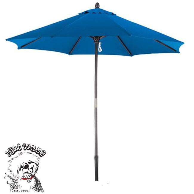 PHAT TOMMY Deluxe Sunline 9-foot Marina Blue Market Umbrella