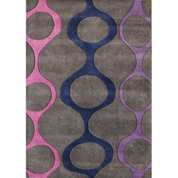 Alliyah Handmade Purple New Zealand Blend Wool Rug (5' x 8')