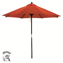 PHAT TOMMY Deluxe Sunline Red Orange 9-foot Market Umbrella