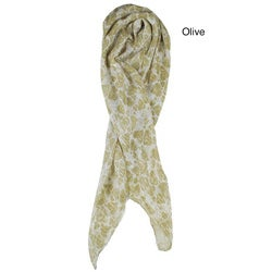 Olive Heart-print Scarf (India)