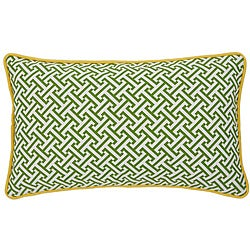 Maze Green/ Yellow Decorative Pillow