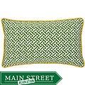 Maze Green/ Yellow Decorative Pillow