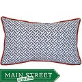12 x 20-inch Maze Grey and Orange Decorative Pillow