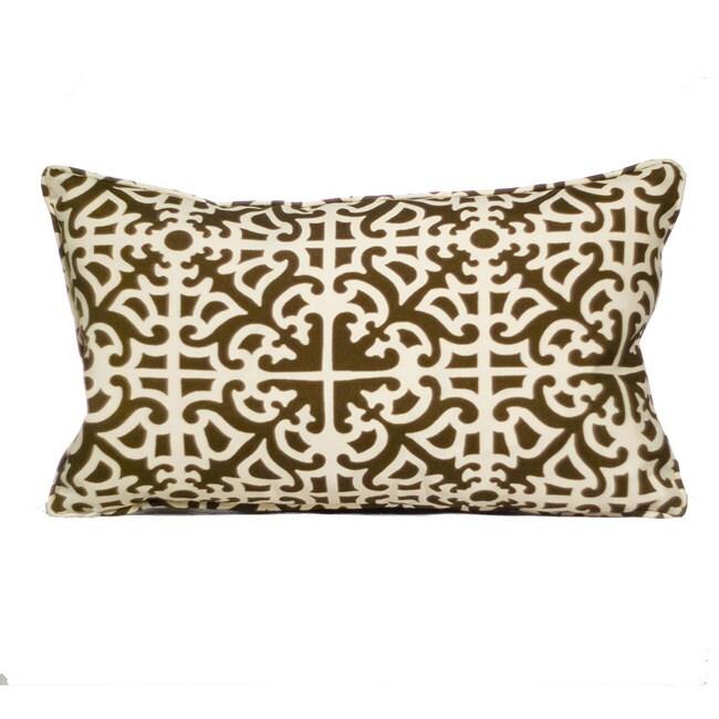 Outdoor Malibu Brown Decorative Pillow
