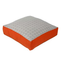 Grey and Orange Box Maze Decorative Pillow