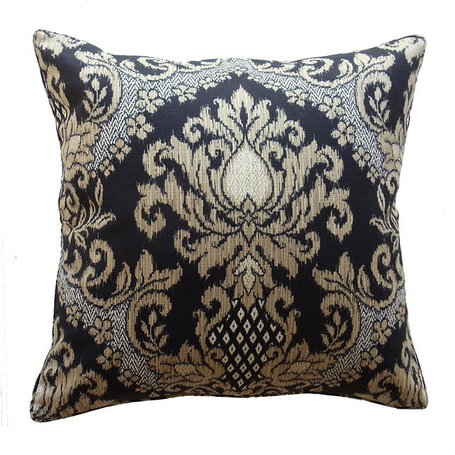 Outdoor Ebony Ikat Decorative Pillow