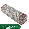 Grey and Orange Tube Maze Decorative Pillow