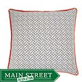 Maze Grey/ Orange Decorative Pillow