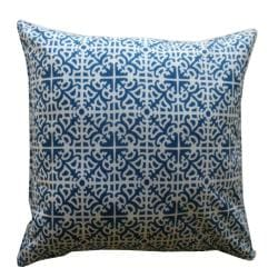Outdoor Blue Malibu Decorative Pillow