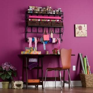 Burnet Espresso Wall Mount Craft Storage Rack