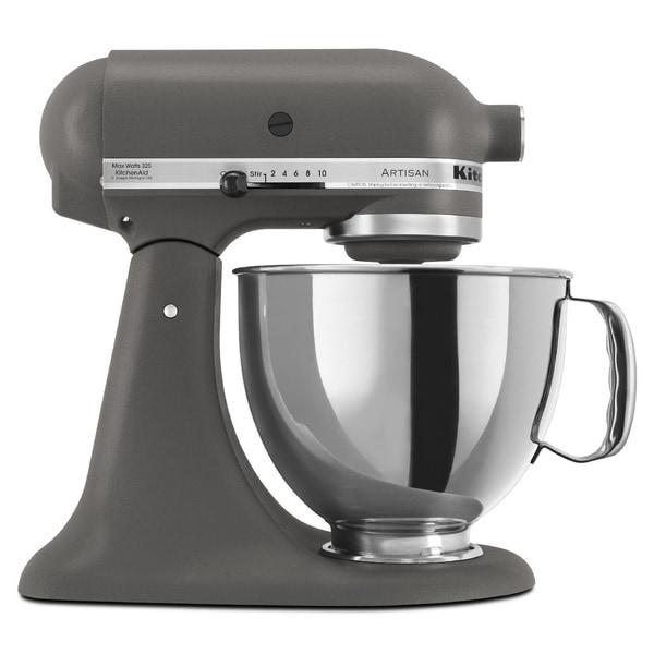 KitchenAid RRK150GR Grey 5-quart Artisan Tilt-Head Stand Mixer (Refurbished)