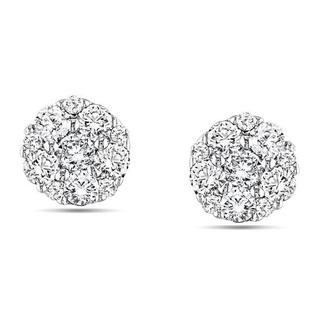 Miadora 10k White Gold 1/4ct TDW Diamond Stud Earrings (G-H, I1-I2)