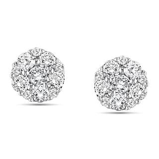 Miadora 10k White Gold 1/4ct TDW Diamond Stud Earrings (G-H, I1-I2)