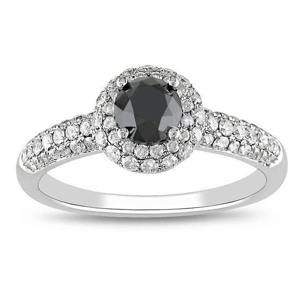Miadora 14k Gold 1 1/3ct TDW Black and White Diamond Ring (G-H, I2)