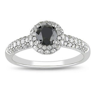 14k Gold 1 1/3ct TDW Black and White Diamond Ring (G-H, I2)