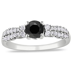 Miadora 14k Gold 1ct TDW Black and White Diamond Ring (G-H, I2)