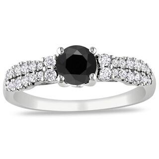 Miadora 14k Gold 1ct TDW Black and White Diamond Ring (G-H, I2)