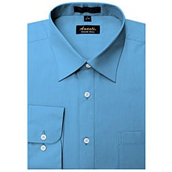 Men's Wrinkle-free French Blue Dress Shirt
