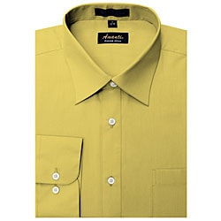 Men's Wrinkle-free Mustard Dress Shirt