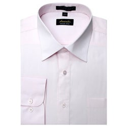 Men's Wrinkle-free Pink Dress Shirt