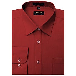 Men's Wrinkle-free Apple Red Dress Shirt