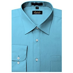 Men's Wrinkle-free Turquoise Dress Shirt