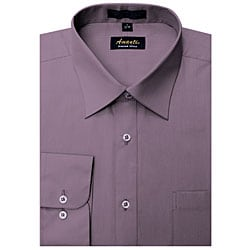Men's Wrinkle-free Violet Dress Shirt
