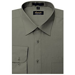 Men's Wrinkle-free Charcoal Dress Shirt