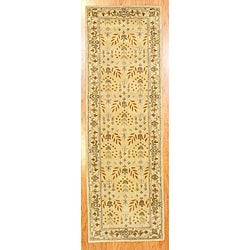 Indo Hand-tufted Gold Wool Rug (2'6 x 8')
