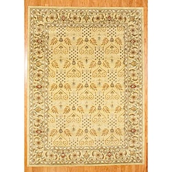 Indo Hand-tufted Gold Wool Rug (8' x 11')