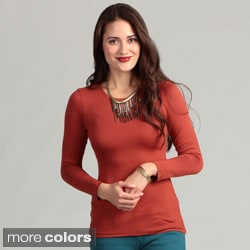 24/7 Comfort Women's Long Sleeve Knit Top