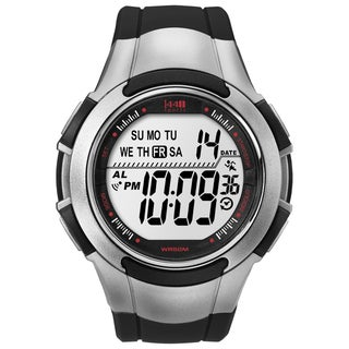 Timex Men's T5K237 1440 Sports Digital Sport Black/Silvertone Watch