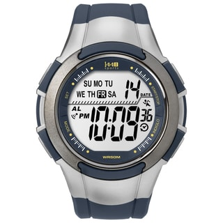 Timex Men's T5K239 1440 Sports Digital Navy/ Silvertone Watch