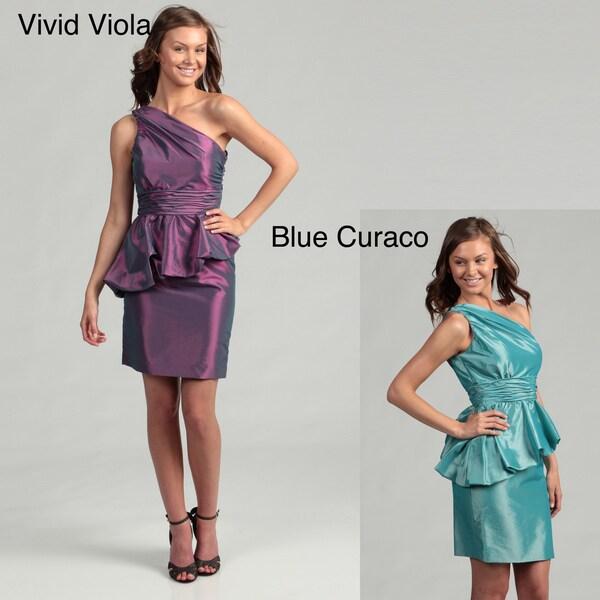 Jessica Simpson Women's Taffeta One-shoulder Peplum Dress FINAL SALE