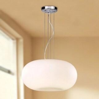 Indoor 3-light Milky White Glass Shade Pendant Chandelier